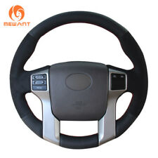 DIY Soft Leather Suede Steering Wheel Cover for Toyota Land Cruiser Prado Tundra