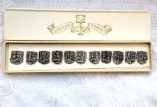 CCCP USSR RUSSIA SOVIET UNION COMPLETE SET OF 11 HERO CITY PINS W/ BOX (557)
