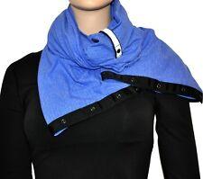 NWT Lululemon Vinyasa Scarf MQSH Mini Check Pique Heathered Blue Black NEW