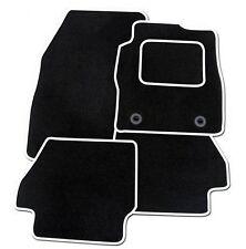 SEAT IBIZA 2008 ONWARDS TAILORED BLACK CAR MATS WITH WHITE TRIM