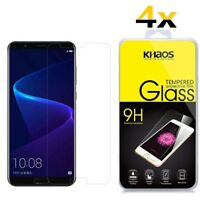 4-Pack KHAOS For Huawei Honor V 10 HD Tempered Glass Screen Protector .26mm 9H
