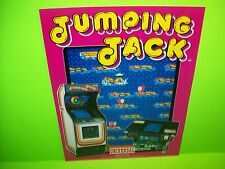 Universal JUMPING JACK Original NOS 1983 Video Arcade Game Promo Flyer Japan