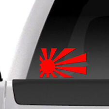 "Rising Sun Flag 5"" RED vinyl decal Car Auto Window Sticker Japanese Military"