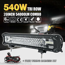 20INCH 540W TRI ROW CREE LED LIGHT BAR WORK LAMP SPOT FLOOD OFF-ROAD 4WD CAR 22""