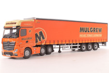 Corgi Modern Truck Heavy Haulage CC15806 Mercedes Curtainside Mulgrew 1/50