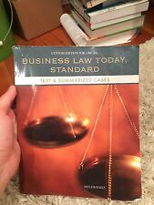 Buisness Law Standard Text and Summarized Cases Custom Law 1101 Miller / Jentz