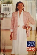 Butterick easy See & Sew pattern 3292 Misses' Jacket & Dress sz 18, 20, 22 uncut