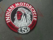 patch thermocollant brodé indian motorcycle usa 9cm