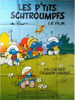Cartel Cine Les P'Tits Schtroumpfs El Película - 120 X 160CM
