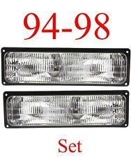 94 98 Chevy GMC Stock Parking Light Set L&R 2Pc Silverado, Tahoe, Yukon Suburban