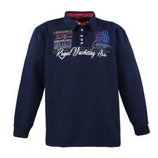 Lavecchia Taglie Polo Felpa Blu Marino Tgl 4XL 5XL 6XL 7XL 8XL #2024