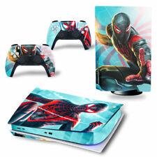 PS5 Disc Edition Skin Decal Sticker -Spiderman Custom Design 16 - FREE P&P