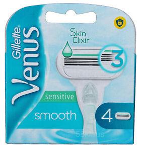 4 Gillette Venus Smooth Sensitive Rasierklingen Klingen Frauen Damen Women OVP