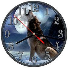 "8"" WALL CLOCK - Wolf 8 Wolves Spiritual - Kitchen Office Bathroom Bar Bedroom"