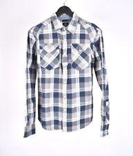 G-Star Arizona Elijh Maniche Lunghe Stile Western Uomo Camicia TAGLIA L