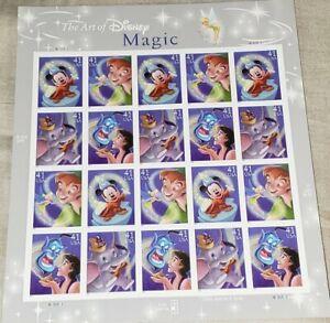 The Art of Disney Magic, Full Sheet of 20 x 41 Cent USPS Stamps, Scott 4192-95