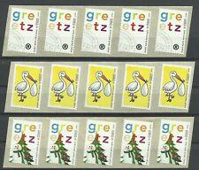 NEDERLAND 2010 - PORT BETAALD - 35A 35B 35C - GREETZ - TNT logo - strips van 5