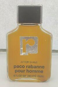 VINTAGE FRANCE PACO RABANNE POUR HOMME AFTER SHAVE 240 ml 8 oz