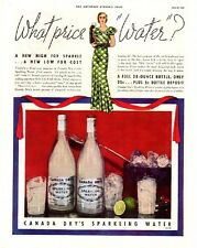 Vintage 1933 Canada Dry Sparkling Water 20c Low Cost Water Original Print Ad