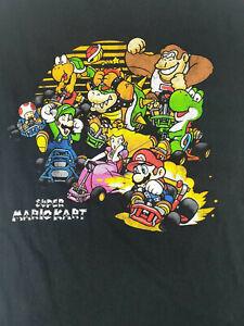 Super Nintendo, Super Mario Kart T-Shirt Black Large - Used