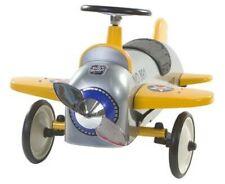 Retro Roller Rutscher Flugzeug Charles silber Rutschauto Kleinkind Metall 706120