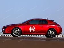 2 x Alfa Romeo Kreis Aufkleber Für tür GT Brera 159 156 147 GTV Emblem Logo XL