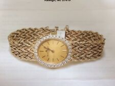 Exquisite Vintage Baume-et-Mercier 14k Gold Ladies Watch with 30 diamonds