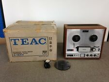 Teac A-1500 Reel To Reel Tape Player Recorder Wood Grain & Silver | Vintage