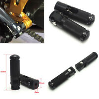 BLACK Pair CNC Motorcycle/bike Folding Footpeg Foot Peg Rear Set Pedal 8MM 87MM