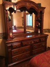 Basset Triple Dresser with Mirrored Hutch Top Made in Usa. Good Condition.
