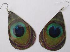 Big peacock eye dangle earring  PA1