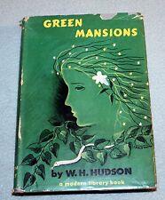 Vintage Modern Library Hardback w Dust Jacket Green Mansions W H Hudson