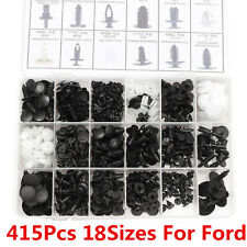 415pcs 18 Sizes Trim Clips Retainer Panel Bumper Fastener Tool Kit Set For Ford