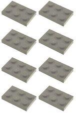 Missing Lego Brick 3021 DkStone x 8 Plate 2 x 3