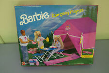 VINTAGE 1991 BARBIE CAMPING PLAYSET BOXED - RARE PINK SET COMPLETE
