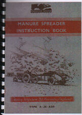 Ferguson Tractor Manure Spreader Operator Instruction Manual Book