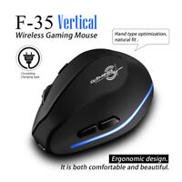 Zelotes F-35 2.4G Wireless Rechargeable 2400DPI 6 Buttons Vertical Mouse Mice