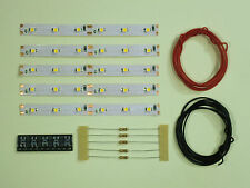 S544-5 piezas LED Iluminación Del Coche 100mm Blanco Analógico + DIGITAL