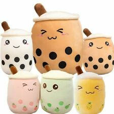 Bubble Tea Cup Shaped Pillow Real-life Stuffed Soft Back Cushion Funny Food Gift