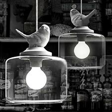 Retro DIY Ceiling White Pigeon Lamp Light Glass Pendant Lighting Home Cafe Gift