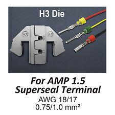 TGR Crimping Tool Die - H3 Die for AMP 1.5 Superseal Terminal AWG 18/17
