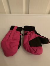 Obermeyer Snow Mittens Size Preschool Small S Black & Pink