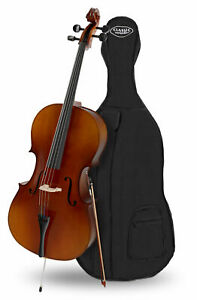 Violoncelle Orchestre Instrument a Cordes Taille 4/4 Archet 4 Corde Housse Set