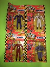 Incredible Crash Dummies BENDABLES - FULL SET Of 4 Action Figures by TYCO! NEW!
