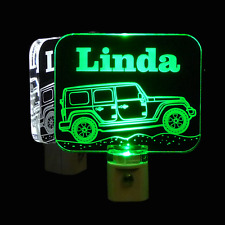 Jeep Personalized LED Night Light - Kids Lamp, Truck, Personalized Gifts - Dad