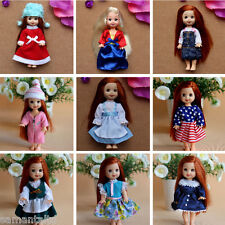 handmade doll outfits 5pcs dress for 11cm barbie baby kelly mini doll clothes