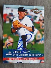 Detroit Tigers Jason Foley Signed 2017 Midwest League All-Star Auto Card
