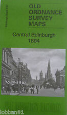 Old Ordnance Survey Map Central Edinburgh (Princes St) Scotland 1896  3.07 New