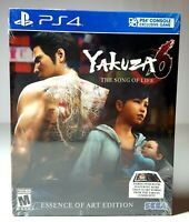 PS4 YAKUZA 6: The Song of Life Essence of Art Edition Video Game Brand New!