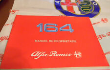 Alfa Romeo 164 -1992 Owners Manual FRENCH - Manuel du Proprietaire